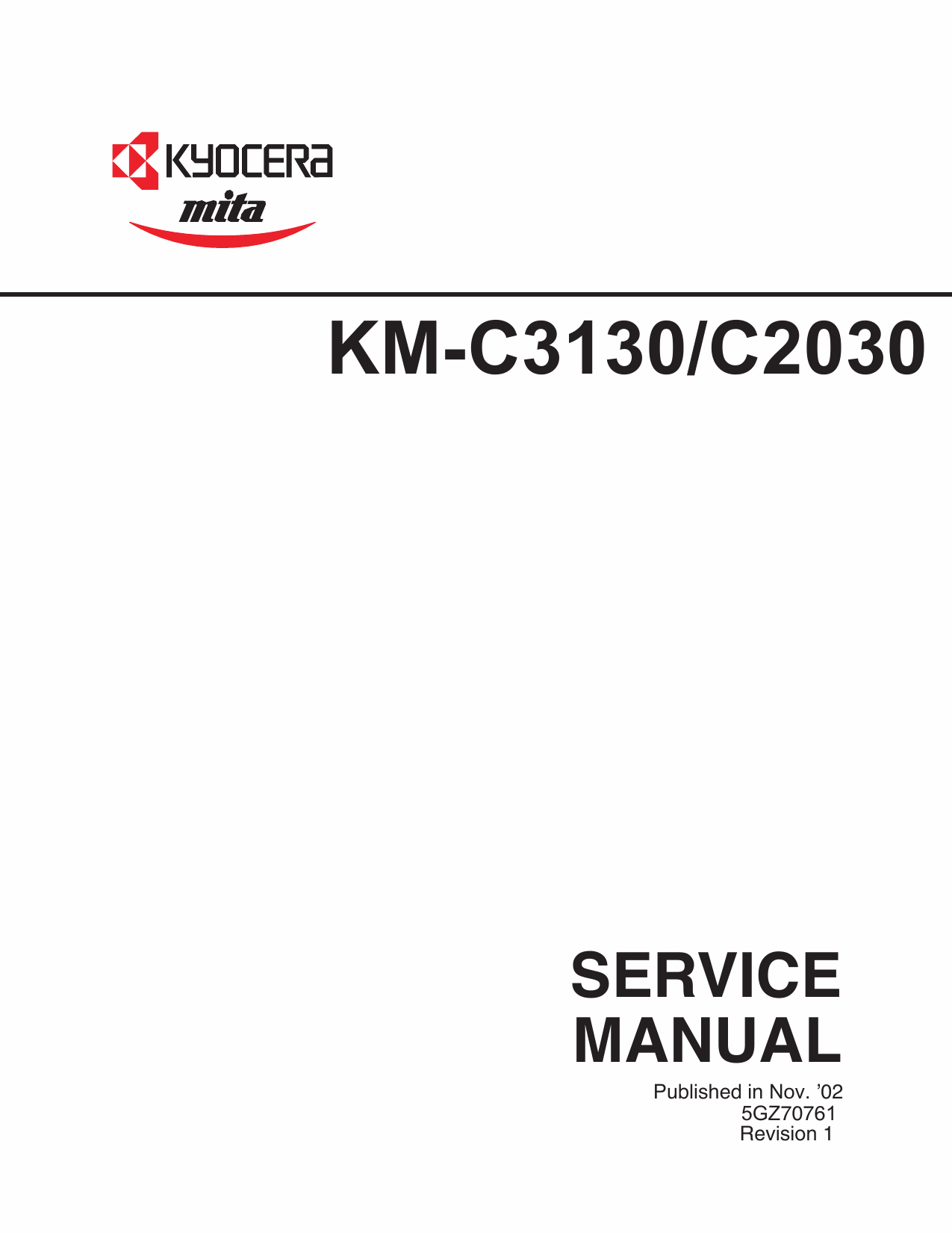 KYOCERA ColorCopier KM-C2030 C3130 Parts and Service Manual-1